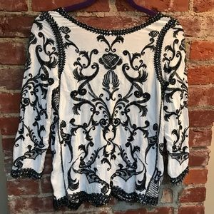 Hot & Delicious Embroidered Top